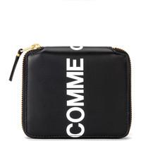 Bags Women Wallets Comme Des Garcons Wallet Huge Logo in black leather Black