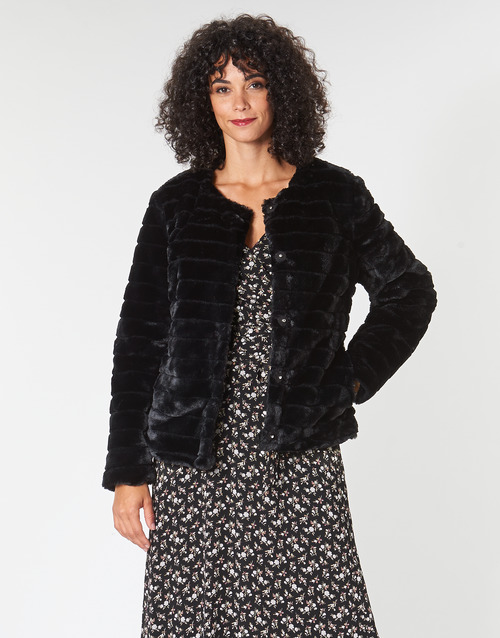 Clothing Women coats Lauren Ralph Lauren FAUX CHUBBY Black