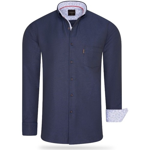 Clothing Men long-sleeved shirts Cappuccino Italia Regular Fit Overhemd Navy Blue