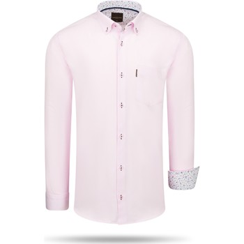 Clothing Men Long-sleeved shirts Cappuccino Italia Regular Fit Overhemd Pink Pink