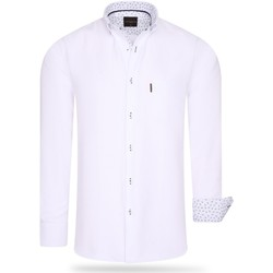 Clothing Men Long-sleeved shirts Cappuccino Italia Regular Fit Overhemd White White