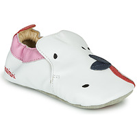 Shoes Girl Slippers Catimini CIRINI Vte / White-pink
