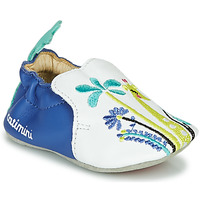 Shoes Girl Slippers Catimini COLIMA White / Blue