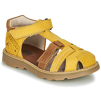 Shoes Boy Sandals GBB SEVILLOU Yellow / Brown