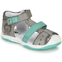 Shoes Boy Sandals GBB EUZAK Grey / Blue