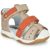 Shoes Boy Sandals GBB EUZAK Beige / Orange