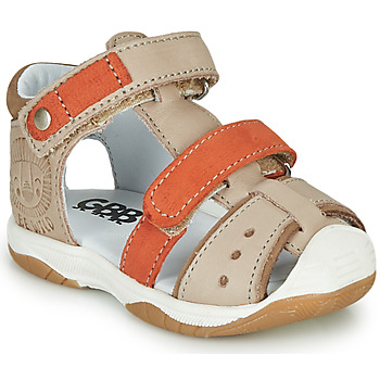 Shoes Boy Sandals GBB EUZAK Beige / Orange