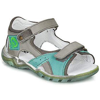 Shoes Boy Sandals GBB EROPE Grey / Blue