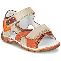 Shoes Boy Sandals GBB EROPE Beige / Orange