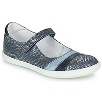 Shoes Girl Flat shoes GBB ECOPA VTE MARINE ARGENT DPF/CUBA