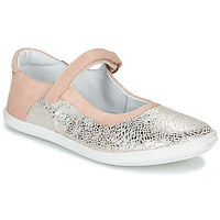 Shoes Girl Flat shoes GBB PLACIDA VTE ROSE-ARGENT DPF/CUBA
