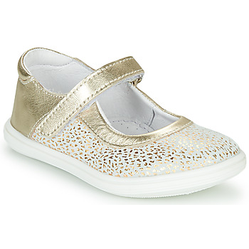 Shoes Girl Flat shoes GBB PLACIDA White / Gold