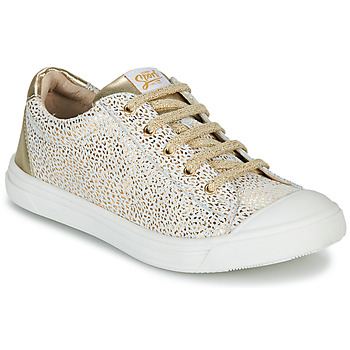Shoes Girl Low top trainers GBB MATIA CRT BLANC IMPR-OR DPF/MILENA