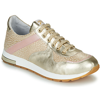 Shoes Girl Low top trainers GBB LELIA Gold / Beige