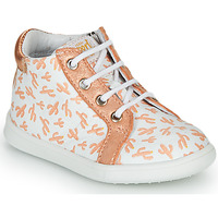 Shoes Girl Hi top trainers GBB FAMIA White / Pink / Gold