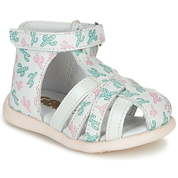 Shoes Girl Sandals GBB AGRIPINE White / Green / Pink