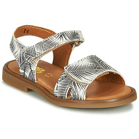 Shoes Girl Sandals GBB CAVOLA White / Black