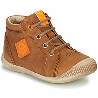 Shoes Boy Hi top trainers GBB TARAVI Brown