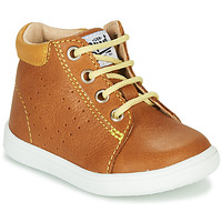 Shoes Boy Hi top trainers GBB FOLLIO Cognac