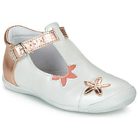 Shoes Girl Flat shoes GBB ANAXI White / Pink / Gold