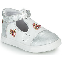 Shoes Girl Low top trainers GBB ANISA VTS BLANC-ARGENT DPF/TRILLY