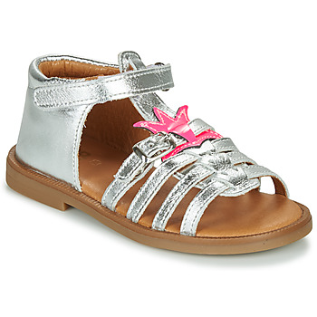 Shoes Girl Sandals GBB CARETTE Silver / Pink