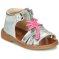 Shoes Girl Sandals GBB ARAGA VTV ARGENT DPF/2794