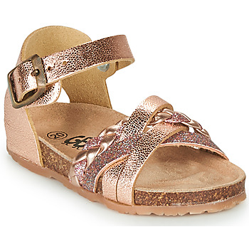 Shoes Girl Sandals GBB ALECTA Pink / Gold