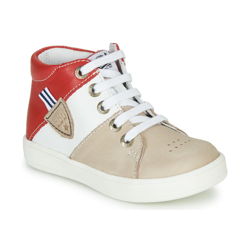 Shoes Boy Hi top trainers GBB AMOS Beige / White / Red