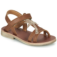 Shoes Girl Sandals GBB SAPELA VTE CAMEL DPF/COCA