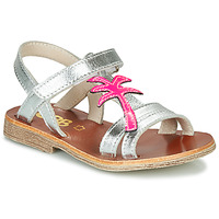 Shoes Girl Sandals GBB SAPELA VTV ARGENT-FLUO DPF/COCA