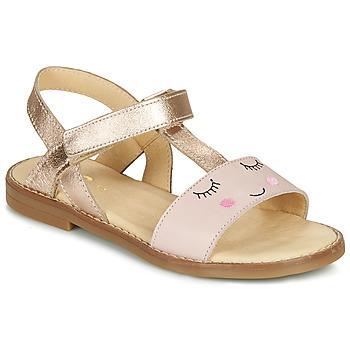 Shoes Girl Sandals GBB NAZETTE Pink