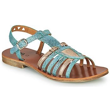 Shoes Girl Sandals GBB FANNI Blue / Gold