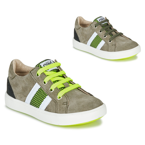 Shoes Boy Low top trainers GBB ANTENO Green