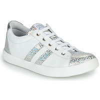 Shoes Girl Low top trainers GBB MAPLUE VTC ARGENT-BLANC DPF/640