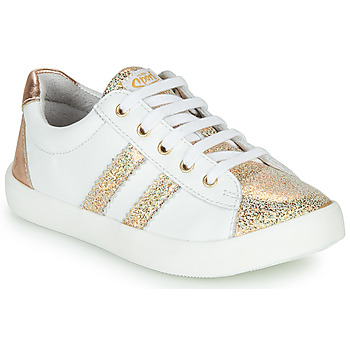 Shoes Girl Low top trainers GBB MAPLUE VTE OR-BLANC DPF/640