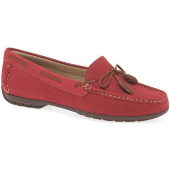 Shoes Women Loafers Charles Clinkard Boat II Womens Moccasins red