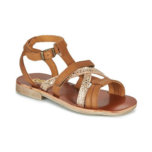 Shoes Girl Sandals GBB JULIA Brown
