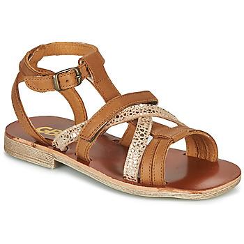 Shoes Girl Sandals GBB JULIA Cognac
