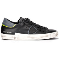 Shoes Women Low top trainers Philippe Model Paris X sneaker in black and gray leather Black