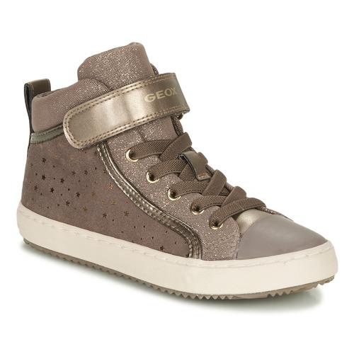 Shoes Girl Hi top trainers Geox KALISPERE Beige