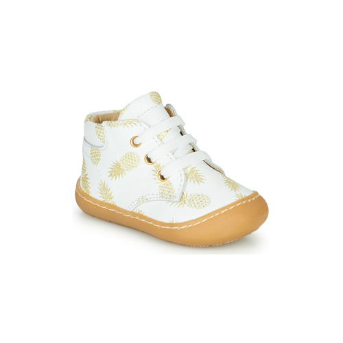 Shoes Girl Hi top trainers GBB ATARINA White / Gold
