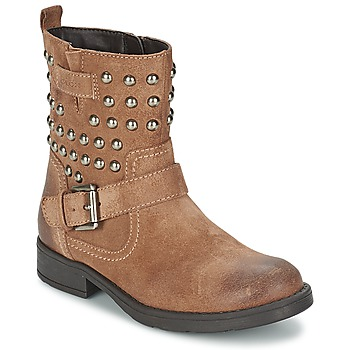 Shoes Girl High boots Geox SOFIA C TAUPE