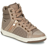 Shoes Girl Hi top trainers Geox CREAMY G TAUPE