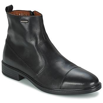 Shoes Men Mid boots Geox LORIS A Black