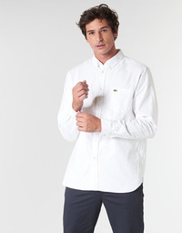 Clothing Men long-sleeved shirts Lacoste CH4976 REGULAR White