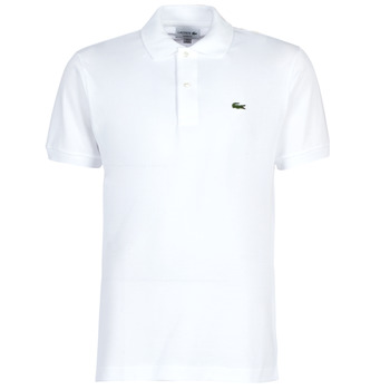 Clothing Men short-sleeved polo shirts Lacoste POLO L12 12 REGULAR White
