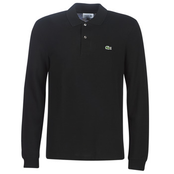 Clothing Men long-sleeved polo shirts Lacoste L1312 Black