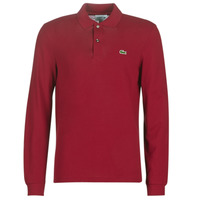 Clothing Men long-sleeved polo shirts Lacoste L1312 Bordeaux