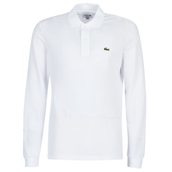 Clothing Men long-sleeved polo shirts Lacoste L1312 White